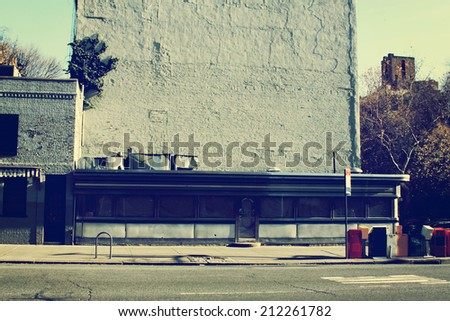 Side View on City Street - stock photo