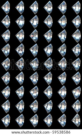 Side views of diamonds with different lighting settings and reflections. Other parts are in my portfolio