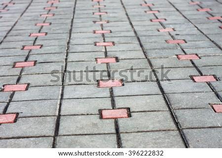Sidewalk cobblestone background - stock photo