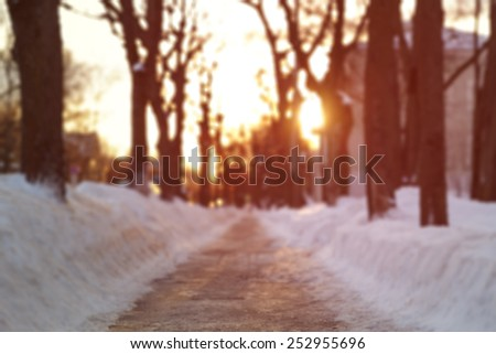 sidewalk in town low angle photo - stock photo
