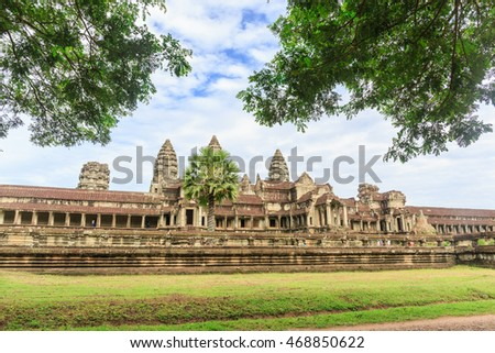 SIEM REAP - AUGUST,15 : The landmark Angkor Wat temple and the nature pool where is the most popular place for tourist that 's one of the four major miracle in Oriental. . CAMBODIA AUGUST,15 2016