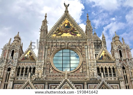 Siena Cathedral, dedicated to the Assumption of the Blessed Virgin Mary. Siena. Italy - stock photo