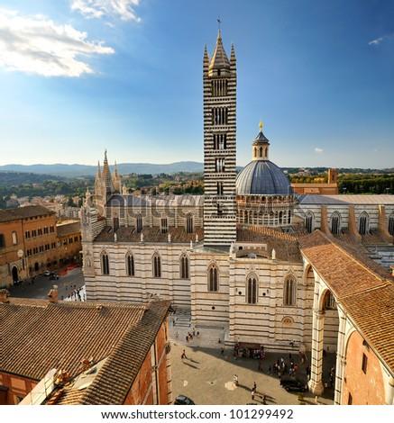 Siena Cathedral (duomo - toscana - italy) - stock photo
