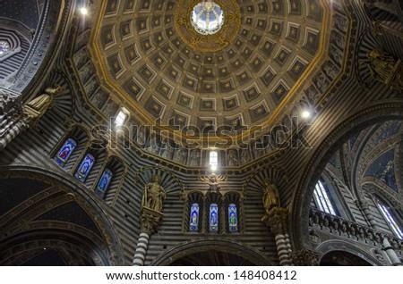 Siena Cathedral of Santa Maria Assunta, Tuscany, Italy - stock photo
