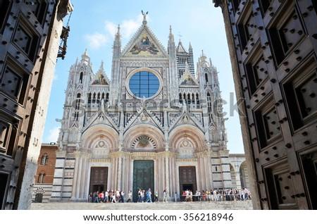 Siena Cathedral. Tuscany, Italy - stock photo