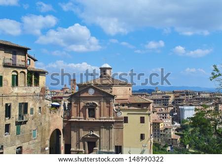Siena cityscape, Italy - stock photo