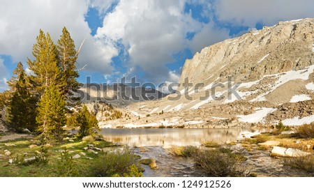 Sierra Nevada Lake Scenery - Idyllic Timberline Lake west of Mount Whitney, Sierra Nevada, California, USA