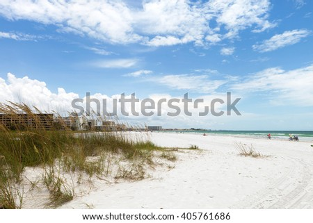 Siesta Key Beach Sarasota Florida - stock photo
