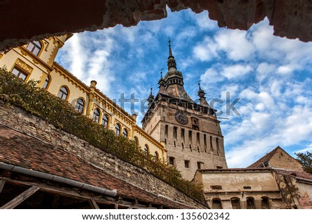 Sighisoara is the only medieval fortified city, it has been listed by the UNESCO. Romania - stock photo