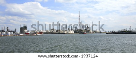 sight at a dock in the port of Antwerp (Belgium) - stock photo
