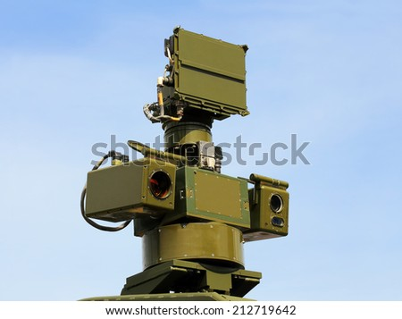 Sight of the two-channel  weapon control system - stock photo