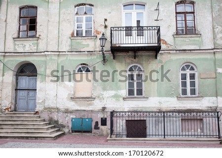 Sightseeing in the old town of Zamosc. It is on the UNESCO World Heritage List and it's called The Pearl of Renaissance. - stock photo
