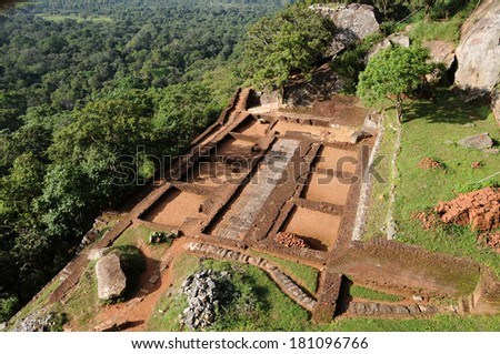 Sigiriya fort,Sri Lanka - stock photo