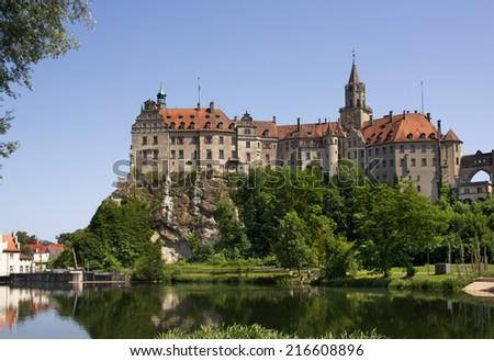 Sigmarigen Castle on the Danube, Baden-Wuerttemberg, Germany - stock photo