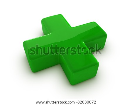 Sign a green cross - stock photo