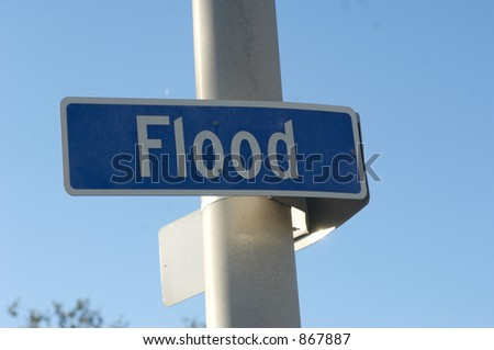 Sign at Flood and Claiborne, New Orleans - stock photo