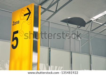 Sign Board in airport - stock photo