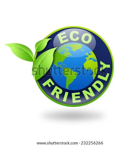 Sign Eco Friendly illustration - stock photo