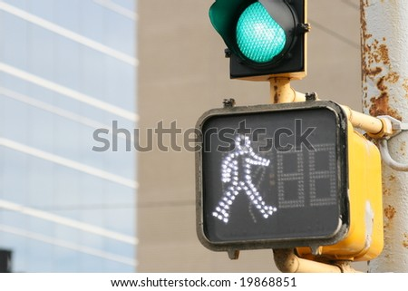 sign for pedestrians - stock photo