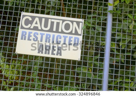 Sign for restricted area         - stock photo