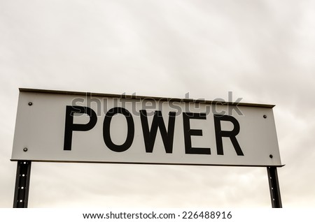 Sign for the town of Power, Montana