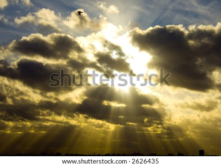 Sign from above - stock photo