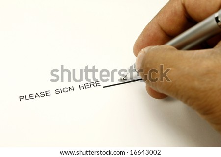 sign here - stock photo