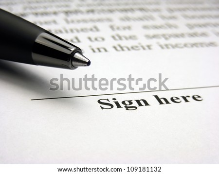Sign here field. The signature concept. - stock photo
