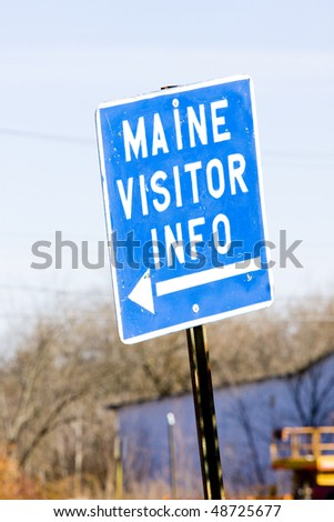 sign in Calais, Maine, USA - stock photo