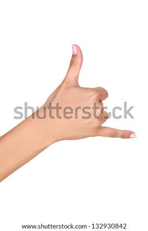 Sign language - stock photo