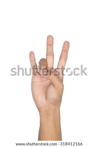 sign language Numbers 7