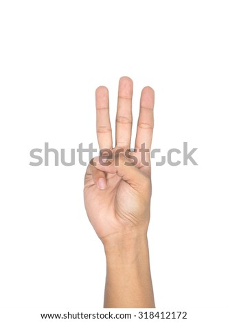 sign language Numbers 6 - stock photo