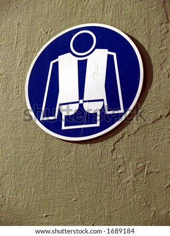 sign: lifejacket - stock photo