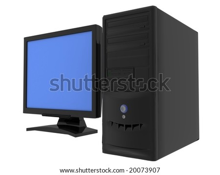 "sign ""my computer"" on a white background - stock photo"