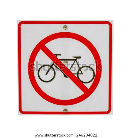 sign no bicycle isolate. - stock photo