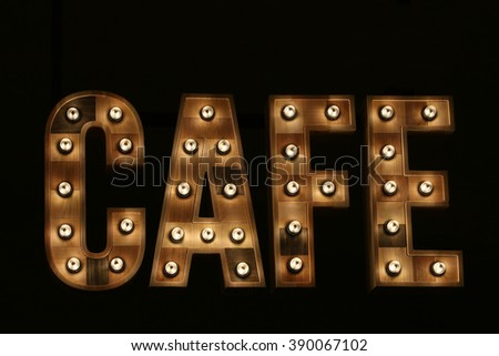 sign of cafe - stock photo