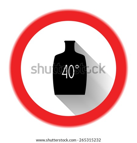 Sign of limiting alcohol consumption) - stock photo