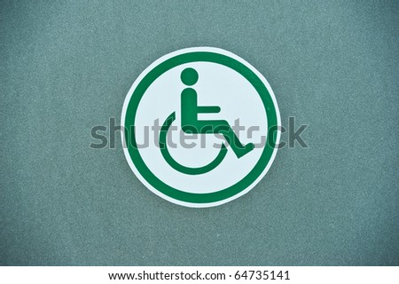 Sign Of Public Toilets WC Restroom For Handicapped