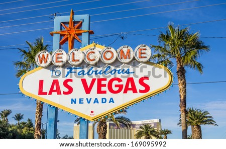 Sign on Las Vegas strip,Nevada - stock photo
