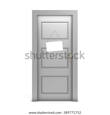 Sign on the door - stock photo