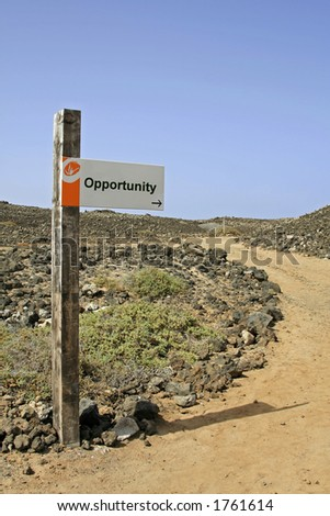 Sign post - Opportunity - stock photo