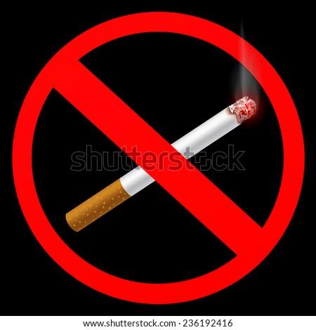 sign prohibiting smoking - stock photo