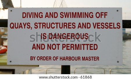 Sign, Quayside - stock photo
