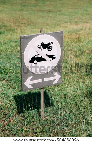 sign road car drive