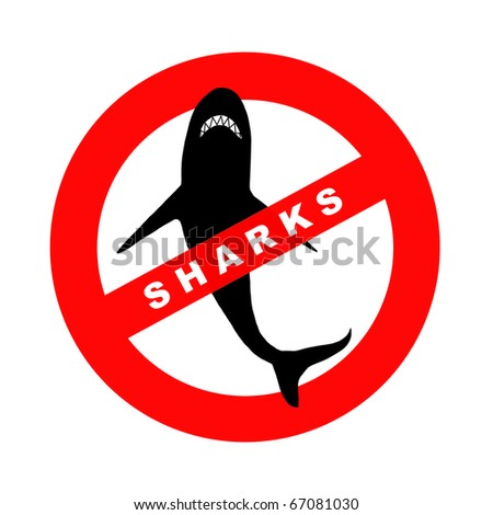 Sign sharks, illustration - stock photo