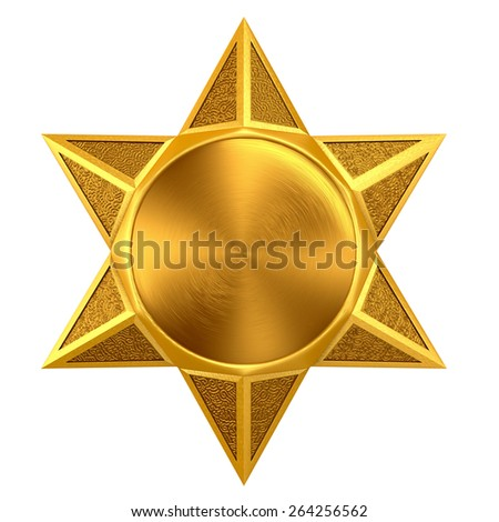 Sign six-pointed star - stock photo