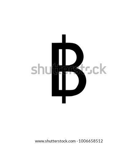 Thai Baht Symbol Sign Line Icon Stock Vector 507958369 Shutterstock