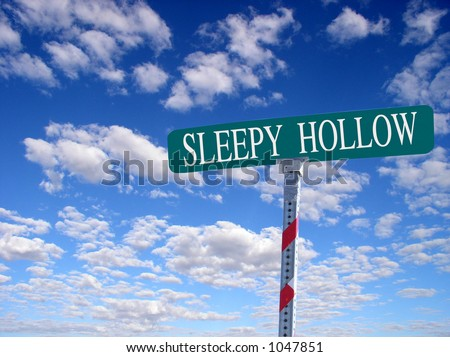 "sign that reads ""Sleepy Hollow"""