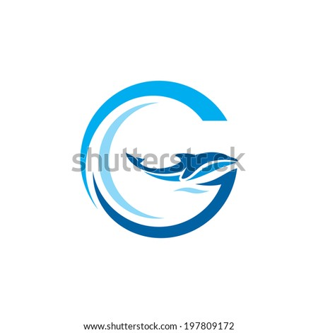 Sign the letter G Branding Identity Corporate logo design template Isolated on a white background - stock photo