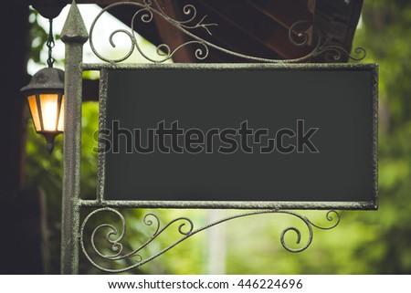 sign vintage - stock photo